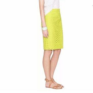 J Crew eyelet pencil skirt
